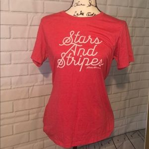 Eddie Bauer Stars and Stripes tee size large